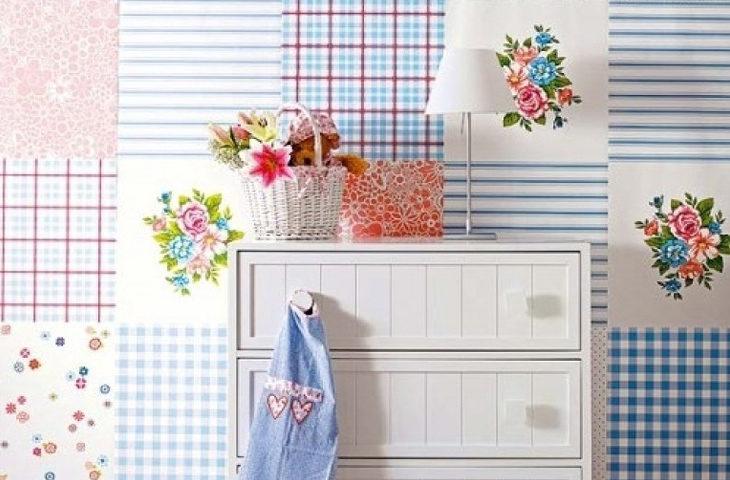 patchwork duvar kağıtları