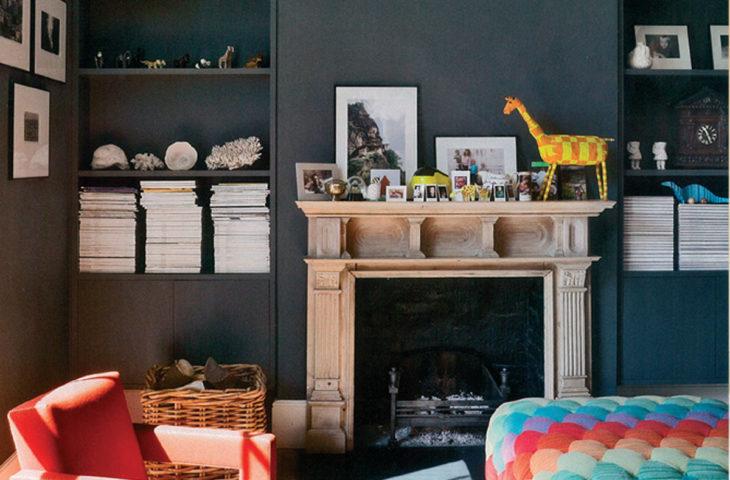Koyu Renk Duvar Dekorasyonu Ornekleri Ve Puf Noktalar Evim