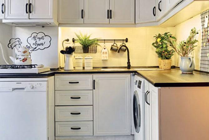 küçük mutfağı büyük