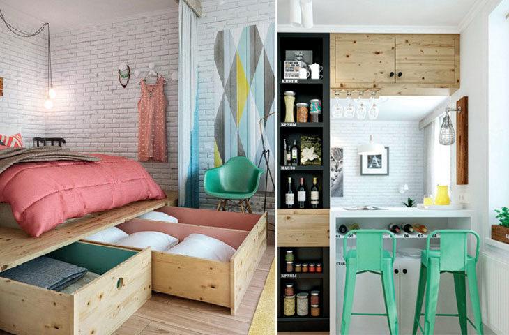 küçük ev dekorasyonu 45-m2