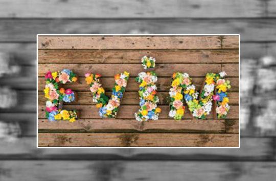 çiçekli harfler