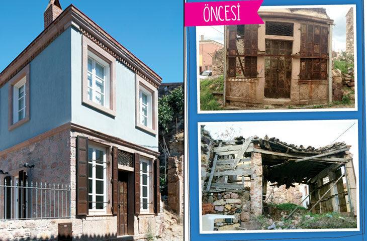 öncesi-sonrası taş ev