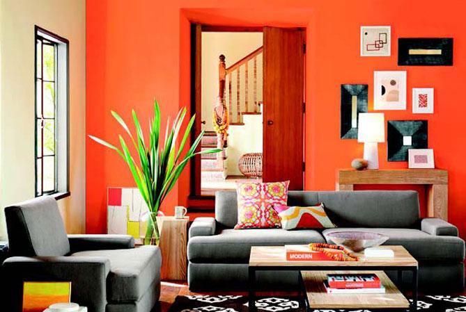 turuncu-ev-dekorasyonu