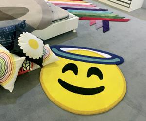 Çocuk odası emoji halı