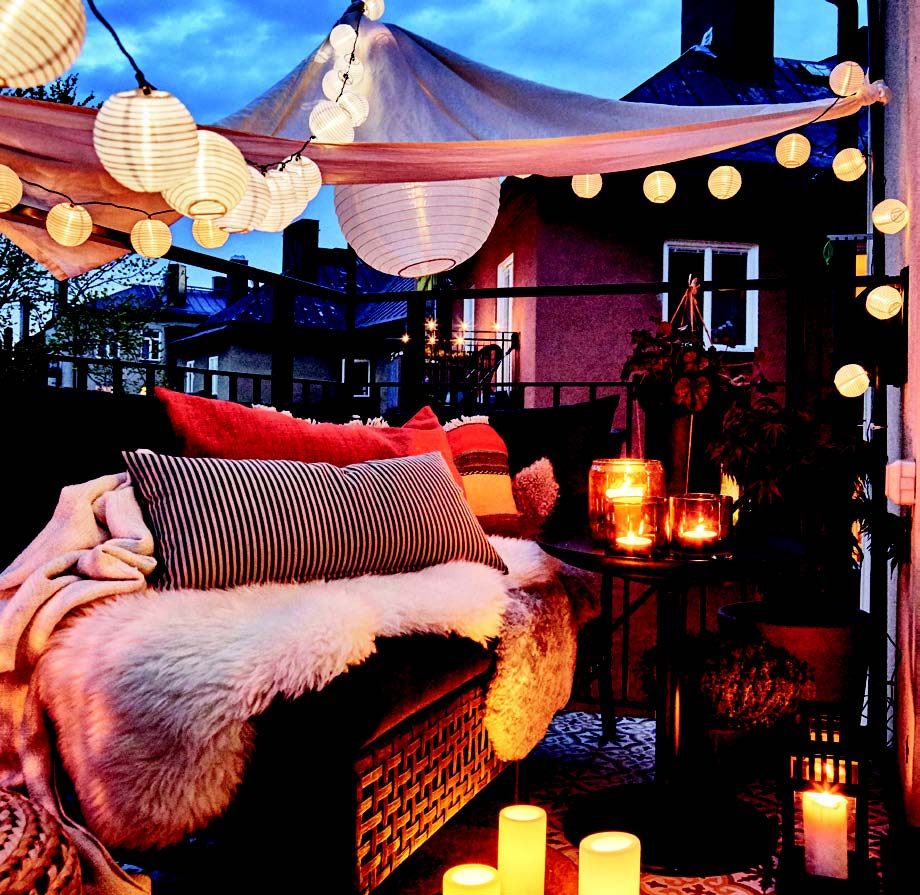 Romantik dekorasyon balkon