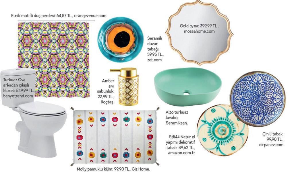 Banyo dekorasyon ürünleri