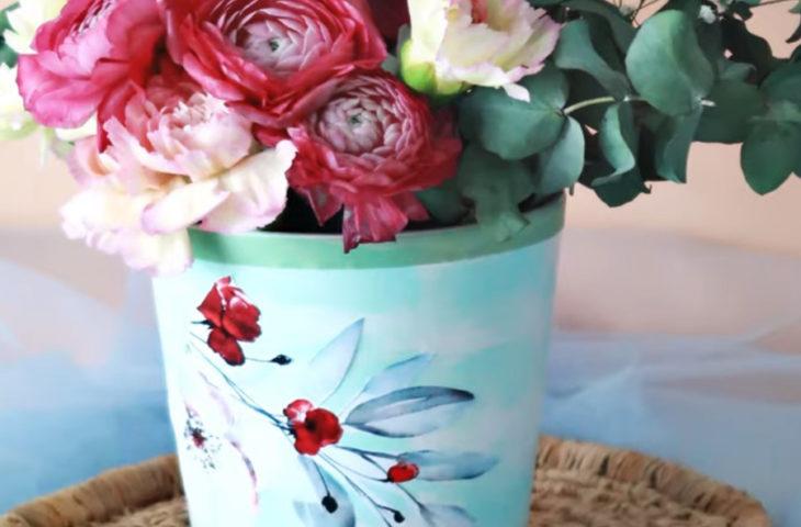dekupe-çiçek
