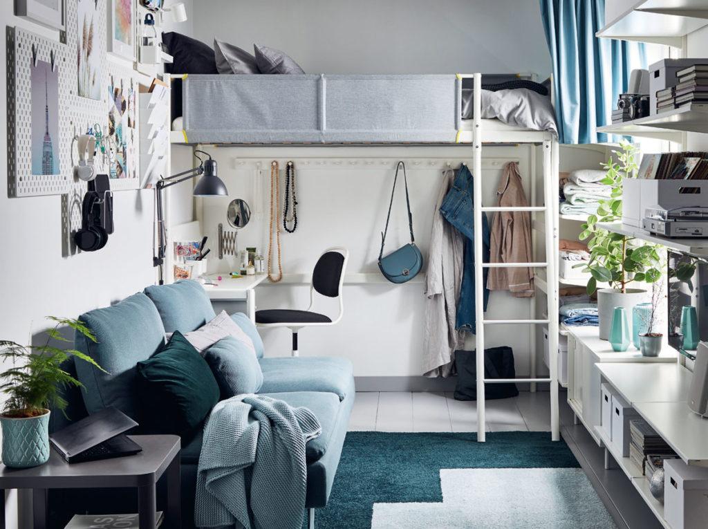 küçük ev ya da stüdyo daire için düzen