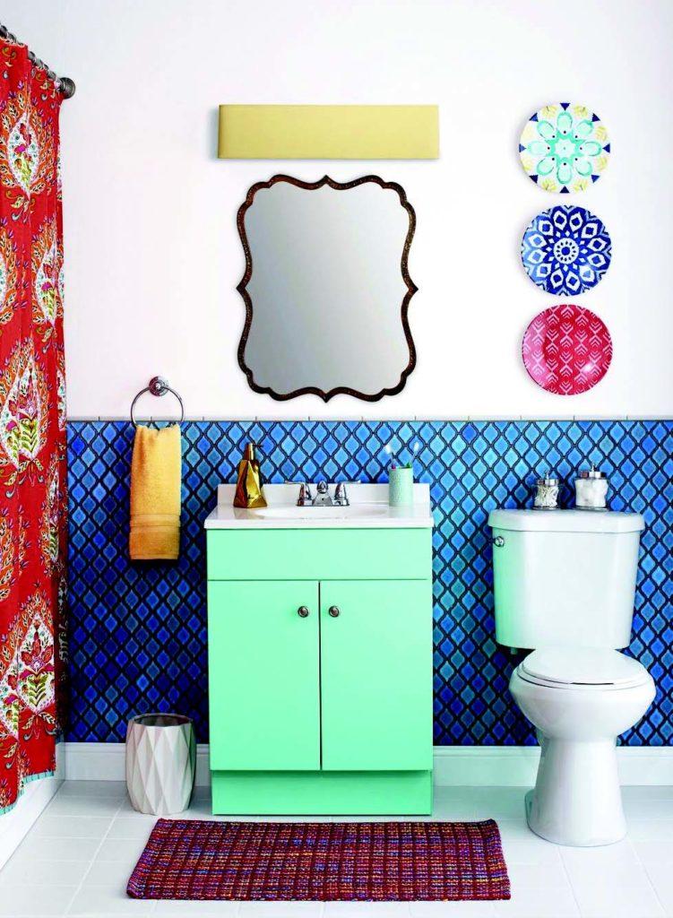 Renkli banyo örneği