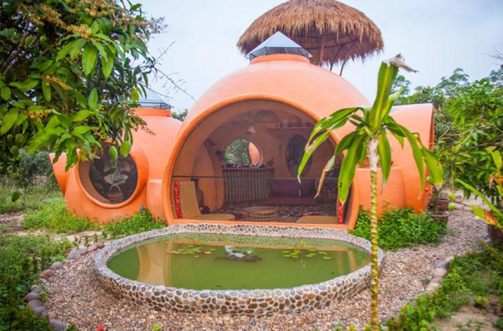 aircrate ile kubbe ev