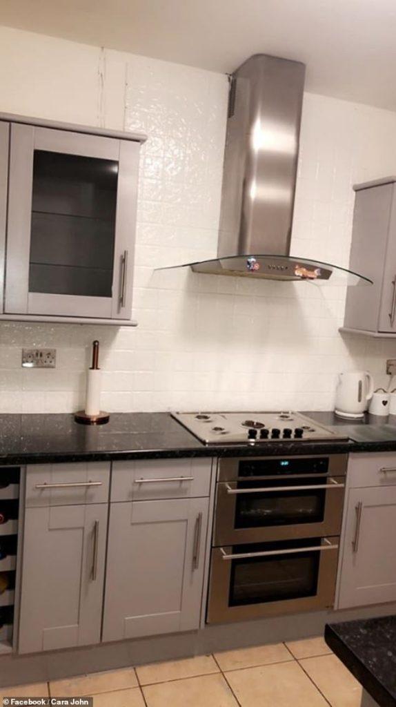 Sonrası - İngiltere'de bir dönüşüm hikayesi: Sadece boya ile mutfak yepyeni görüntüye kavuştu