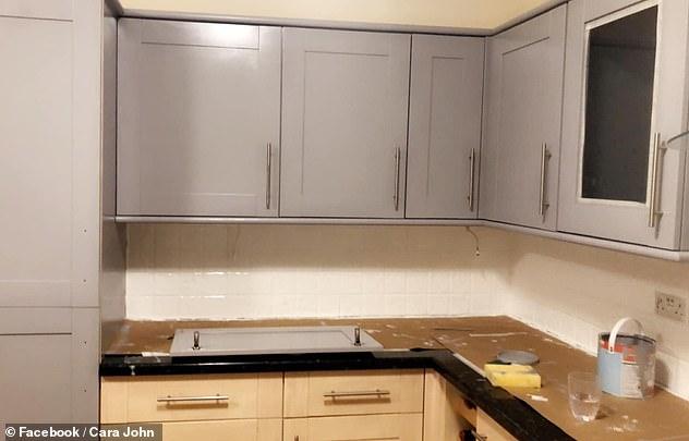 İngiltere'de bir dönüşüm hikayesi: Sadece boya ile mutfak yepyeni görüntüye kavuştu