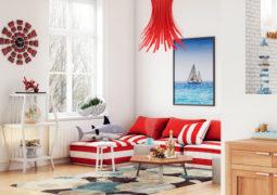 kırmızı oda dekorasyonu