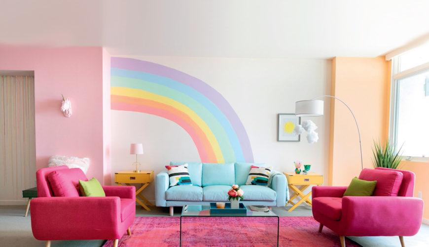Gökkuşağı tadında enerjisi yüksek 10 dekorasyon fikri