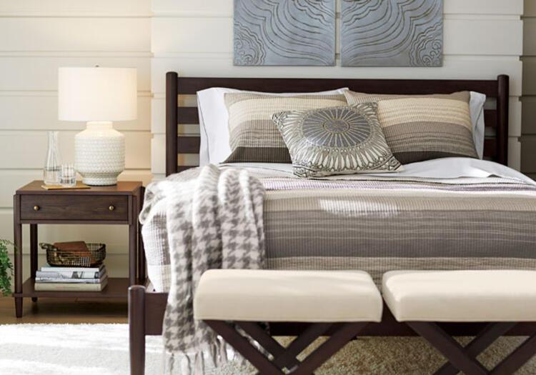 Yatak odası dekorasyon stilleri dingin natüralist