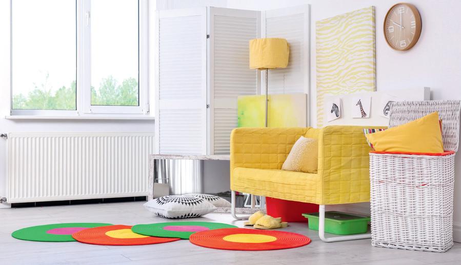 yerde renklerle dekorasyon