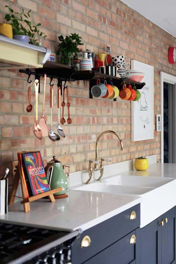 Loft stilde mutfak dekorasyonu
