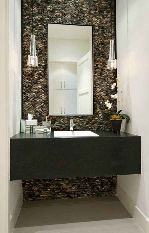 çakıl taşları ile duvar dekorasyonu