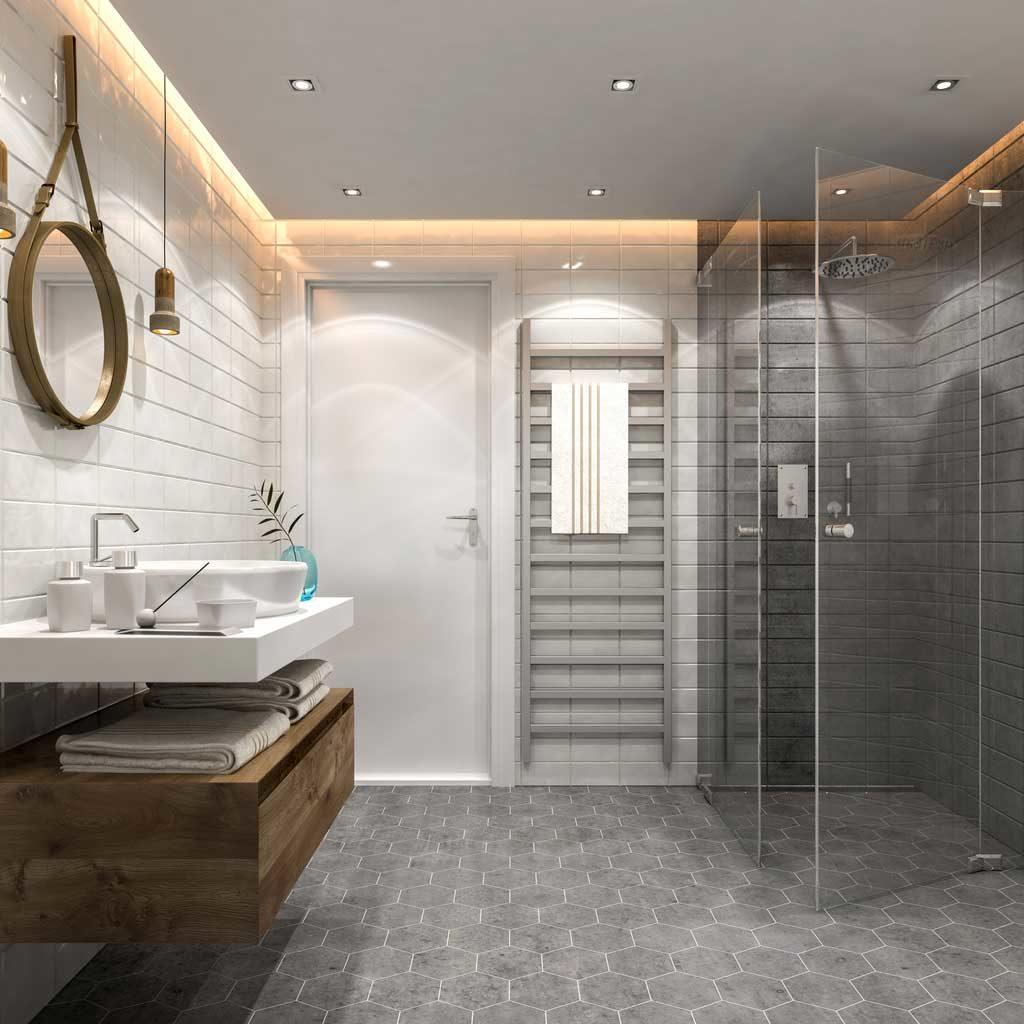 modern banyo aydınlatma