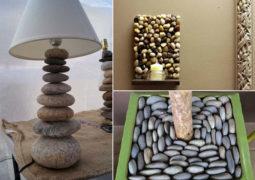 çakıl taşlarıyla dekorasyon örnekleri