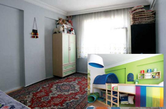 öncesi sonrası çocuk odası