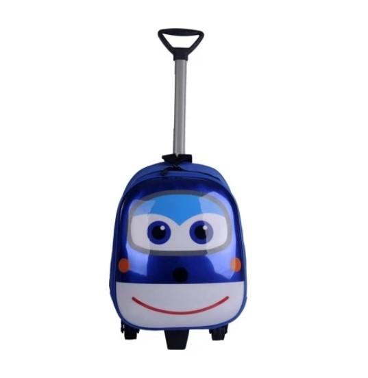 Bigsale Anaokulu Çekçekli 5D Harika Kanatlar Tekerlekli Sırt Çantası Mavi