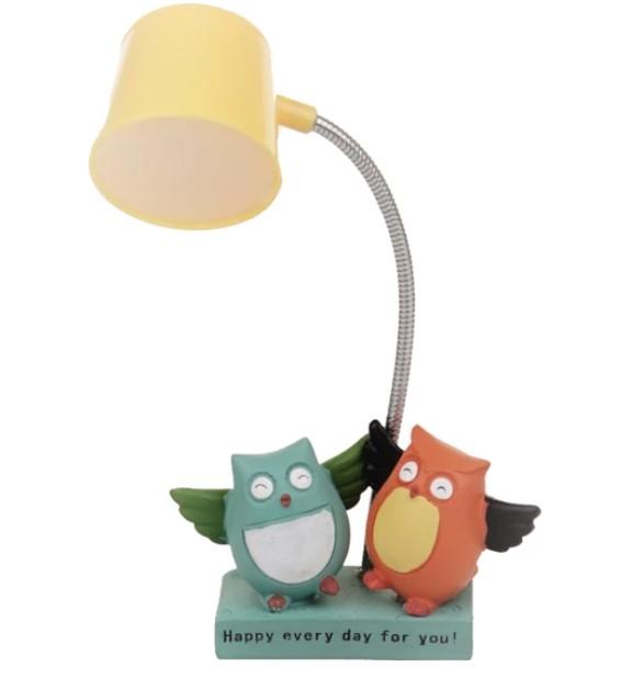 Shoko Dekoratif Kitap Okuma Lambası Sevimli Baykuşlar