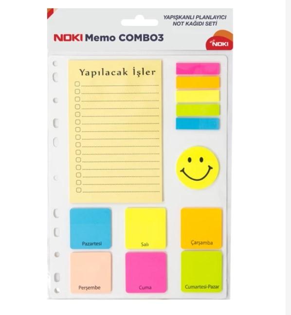 Noki Memo Combo 3 12703 Yapışkan Notluk