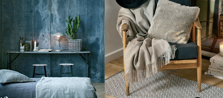 yatak-odasında-sonbahar ve kış dekorasyonu