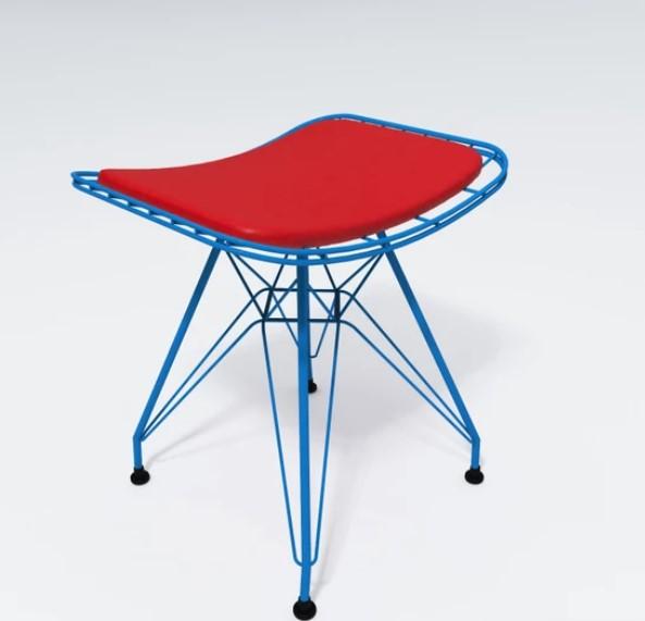 Knsz kafes tel sandalyesi tabure 1'li mutlu mvikrm ofis cafe bahçe mutfak