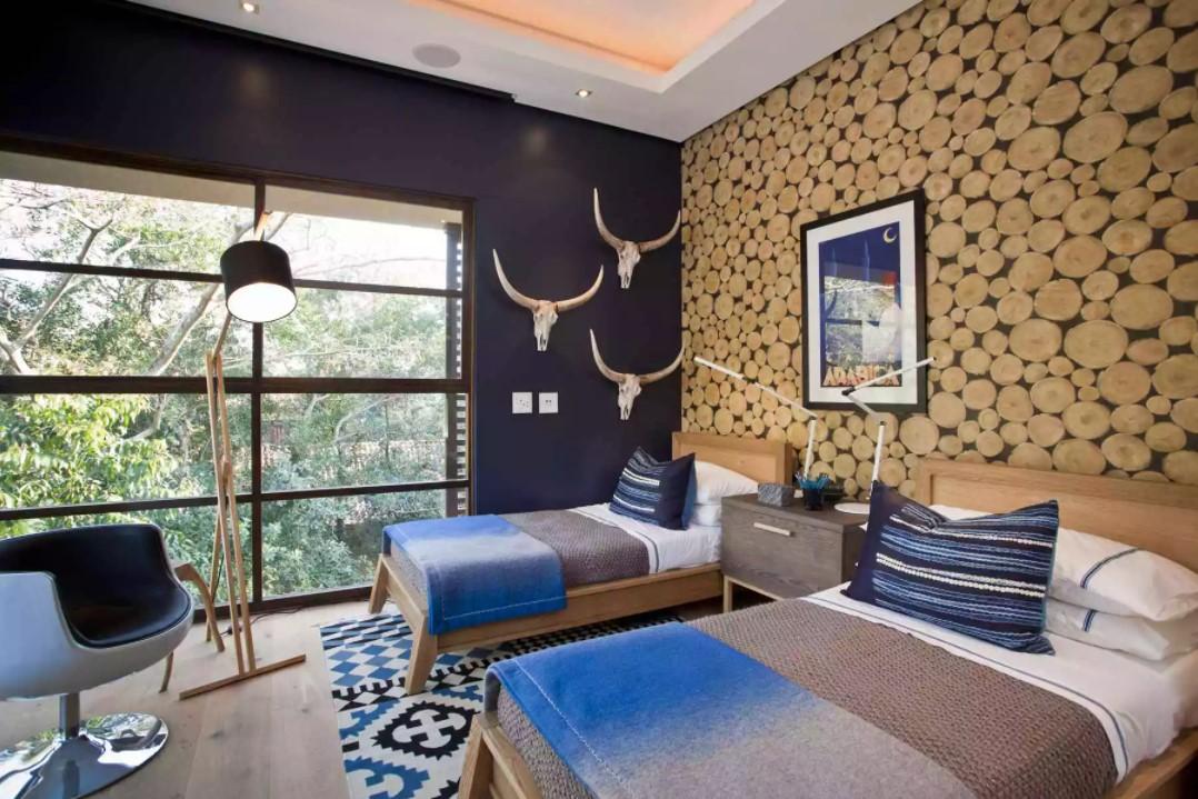 modern rustik yatak odası dekorasyonu